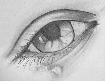 Tears Drawing - Tears by Mary Simms