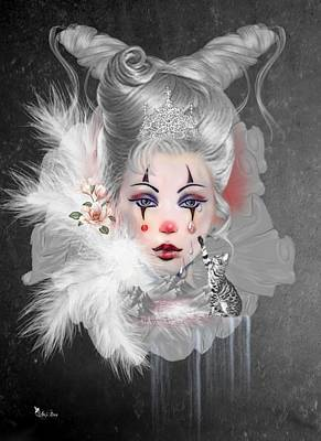 Digital Art - Tears Of A Clown by Ali Oppy