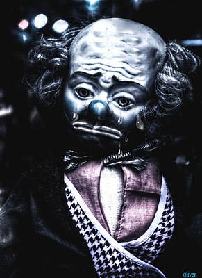 Mixed Media - Tears Of A Clown by Bill Oliver