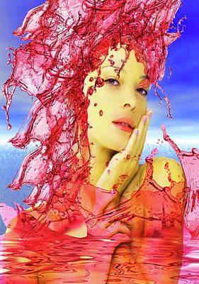 Digital Art - Tears Of Blood by Matthew Lacey