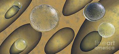 Tears Of Gold Art Print by Richard Rizzo