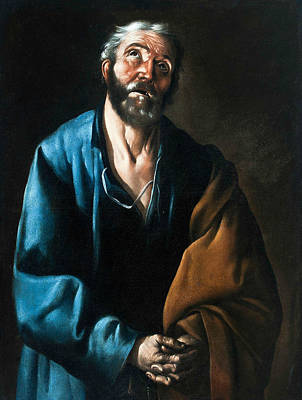 Painting - Tears Of St Peter by Francisco de Zurbaran