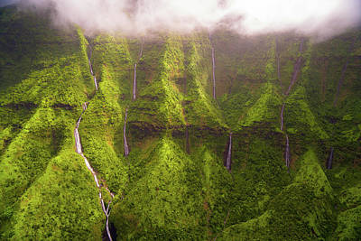 Photograph - Tears Of Waialeale by Ryan Moyer