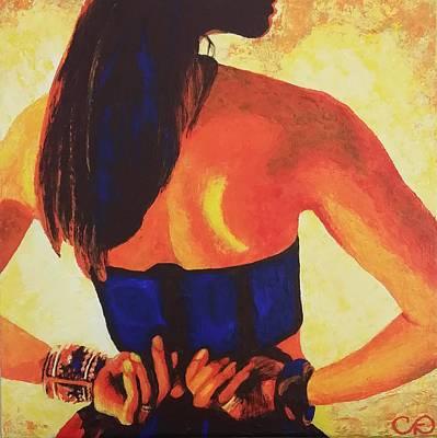 Tease - Female Art Print by Carol Ann