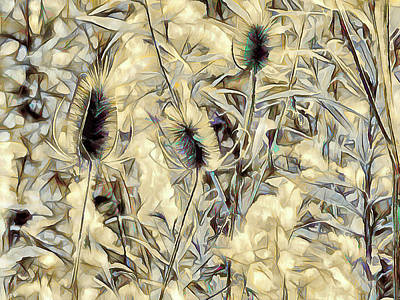Photograph - Teasel In Abstract - Earthy by Leslie Montgomery