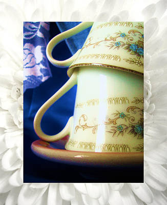 Mixed Media - Teatime by Mary Ellen Frazee