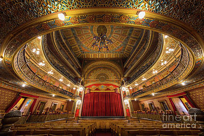 Guanajuato Photograph - Teatro Juarez Stage by Inge Johnsson