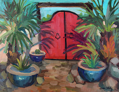 Art Print featuring the painting Tecate Garden Gate by Diane McClary