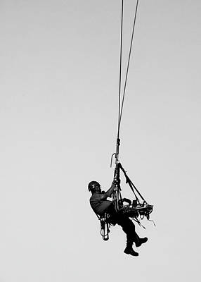 Photograph - Technical Rescue Demonstration by Steven Ralser