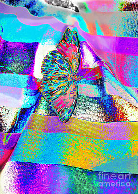 Photograph - Technicolor Buttterfly by Expressionistart studio Priscilla Batzell
