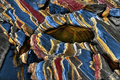 Photograph - Technicolor Rockform by Wayne King