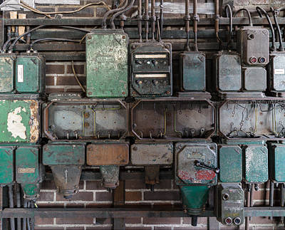 Photograph - Technological Relics by Mike Evangelist