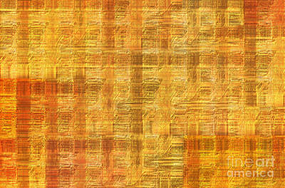 Abstract Printed Circuit Board Art Print by Michal Boubin
