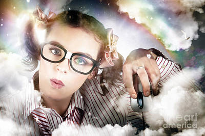 Photograph - Technology Smart Woman Using Cloud Computing by Jorgo Photography - Wall Art Gallery