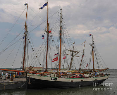 Photograph - Tecla Docked In Charleston by Dale Powell