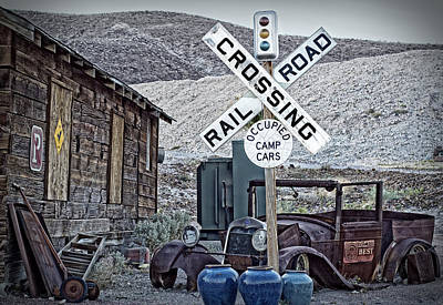 Photograph - Tecopa Signs And Old Relics by Phil Cardamone