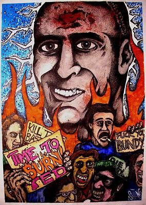 Ted Bundys Last Smile Art Print