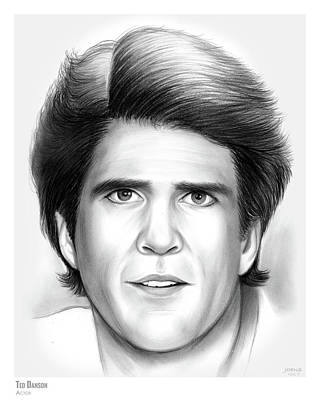 Drawings Rights Managed Images - Ted Danson Royalty-Free Image by Greg Joens
