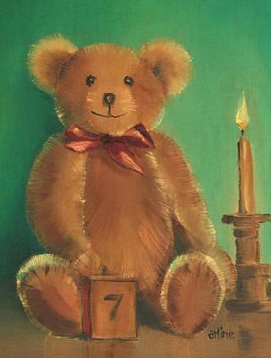Teddy Bears Painting - Ted E. Bear by Arline Wagner