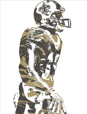 Mixed Media - Ted Ginn Jr New Orleans Saints Pixel Art 1 by Joe Hamilton