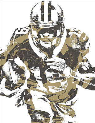 Mixed Media - Ted Ginn Jr New Orleans Saints Pixel Art 3 by Joe Hamilton