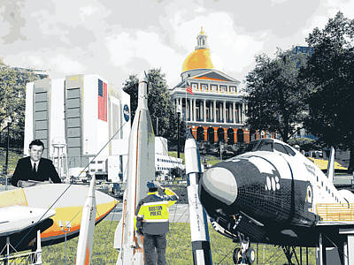 Ted Kennedy Space Center, Boston Common Art Print