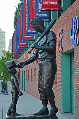 Photograph - Ted Williams Statue Boston Ma Fenway Park by Toby McGuire