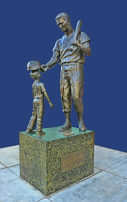 Photograph - Ted Williams Statue - Fenway Park by Allen Beatty