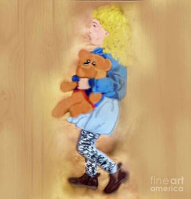 Digital Art - Teddy And Me by Susan Garren