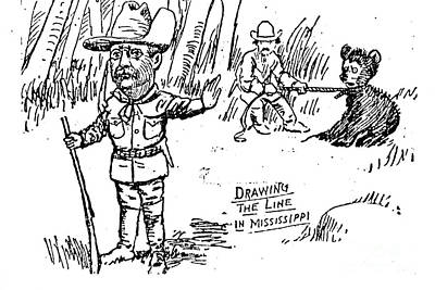Teddy Bear Cartoon, 1902 Art Print by Granger