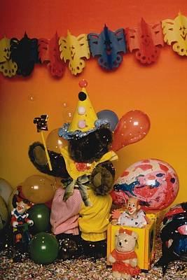 Photograph - Teddy Bear Celebrates, Birthday Teddy Bear by Mary J Tait