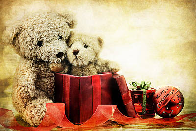 Teddy Bear Christmas Art Print
