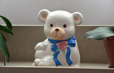 Photograph - Teddy Bear Cookie Jar by Kathy Eickenberg
