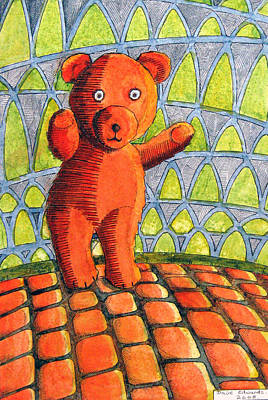 Dave Drawing - Teddy Bear by Dave Edwards