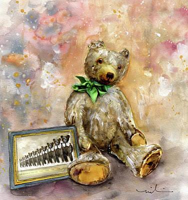 Teddy Bear Growler At Newby Hall Art Print by Miki De Goodaboom