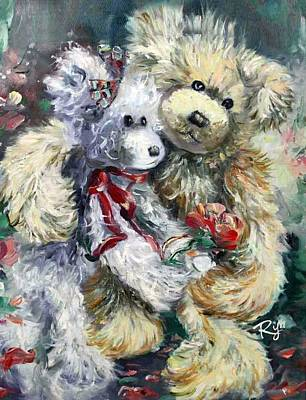 Teddy Bear Honeymooon Art Print