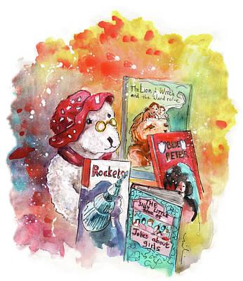 Teddy Bear In Great Ayton Print by Miki De Goodaboom