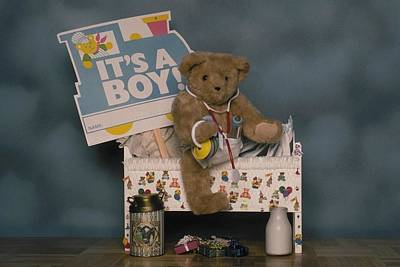 Photograph - Teddy Bear - Its A Boy by Mary J Tait