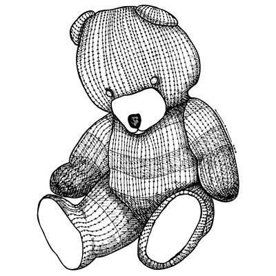 Teddy Bear Art Print by Karl Addison