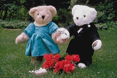 Photograph - Teddy Bear Lovers by Mary J Tait