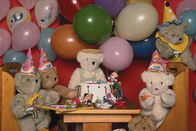 Photograph - Teddy Bear Party by Mary J Tait