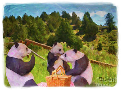 Painting - Teddy Bear Picnic by Stephen Mitchell