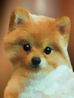 Painting - Teddy Bear Pomeranian 471 - Painting by Ericamaxine Price