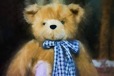 Fuzzy Digital Art - Teddy Bear - Randolph - Fuzzy Wuzzy by Black Brook Photography