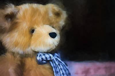 Fuzzy Digital Art - Teddy Bear - Randolph - Profile by Black Brook Photography