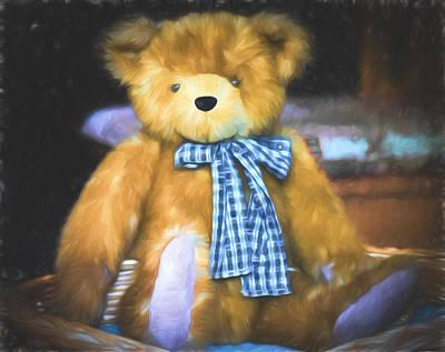 Fuzzy Digital Art - Teddy Bear - Randolph - Tickle My Toes by Black Brook Photography