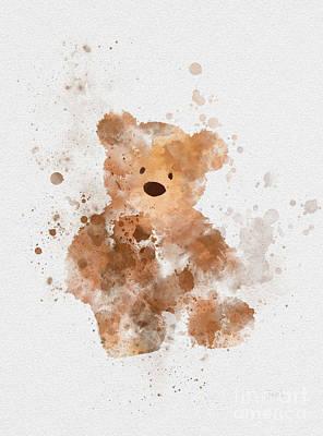 Teddy Bears Mixed Media - Teddy Bear by Rebecca Jenkins