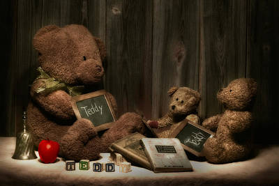 Apple Photograph - Teddy Bear School by Tom Mc Nemar