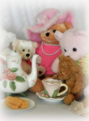 Photograph - Teddy Bear Tea Party by Kenny Francis