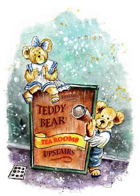 Painting - Teddy Bear Tearoom In York by Miki De Goodaboom